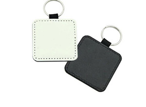 10pcs Keychain Sublimation Blank PU Keychain Accessori Tassello Portachiavi Porta