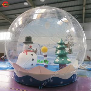 Noel dekorasyon için Noel ucuz açık şişme kar topu yılbaşı ağacı ve kar adam ile ticari şişme kar küresi