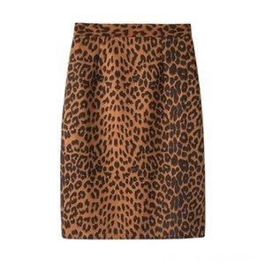 Leopard Midlong Fashion Step Skirt Women Winter Fall Suede Skirts Women's Clothing Skirts High Waist Bag Hip Skirt XL New