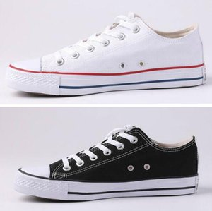 Yeni yıldız büyük boyutu 35-45 Günlük Ayakkabılar Düşük üst Klasik Tuval Ayakkabı Erkek / Kadın Canvas Shoes yıldız