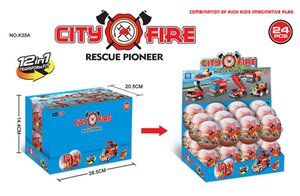 12 on 1 fire fighting truck Building blocks world Plastic Tinker Box car toy kids toys Children's Educational Intelligence Environmental