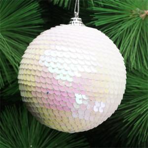 New Glitter Christmas Ball 8cm 1PC Christmas Tree Decor Balls Ornament Xmas Decor Balls Xmas Tree Pendants 30