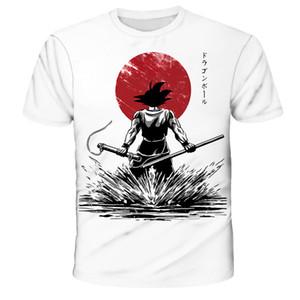 Dragon Ball Z Ultra-Instinct Gott Son Goku Super Saiyan Männer-T-Shirt 3D-gedrucktes Sommer O-Ansatz täglicher beiläufiges lustige T-Shirt in Übergrößen