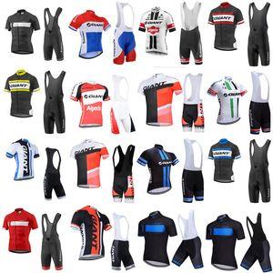 Jersey à manches courtes à cyclisme géant (BiB) Jersey Cycling Jersey Gel Pad Shorts Ensemble MTB Mens Pro Summer Vélo Maillot Wear B612-62