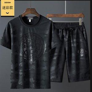 2020 été nouveau costume rue sport costume homme à manches courtes de sport à la mode des hommes de haute qualité
