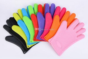 Food grade Heat Resistant thick Silicone Kitchen barbecue oven glove Cooking BBQ Grill Glove Oven Mitt Baking glove