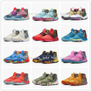 Kyrie 6 Pre-Heat NYC Miami Houston LA Shanghai Pechino Guangzhou Taipei Tokyo Manila Berlino Heal The Shoes mondo Basketbal CN9839-403-100 HI