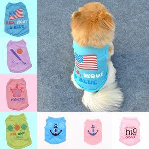 Pet Dog Summer Vest Puppy Дышащий Прохладный Жилет из Полиэстера Summer Chihuahua Corgi Dog Дышащий Полиэстер