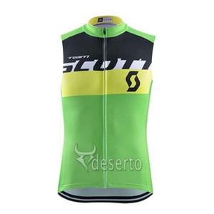 2019 SOCTT equipo masculino Ciclismo Jersey sin mangas Chaleco transpirable de secado rápido de poliéster Tops Ropa deportiva al aire libre verano K061204