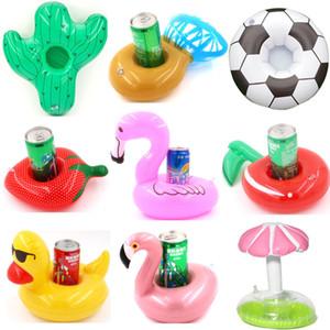 Float Flamingo-Becherhalter Coasters Aufblasbarer Getränkehalter für Pool Luftmatratzen Ananas Donut für Cup