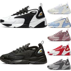 Nike zoom 2K Üçlü Siyah M2k Tekno Zoom 2 K erkek Koşu Ayakkabı kadınlar siyah beyaz Kremalı Beyaz Yarış Kırmızı Mor ZM 2000 Erkekler Açık Spor Ayakkabı