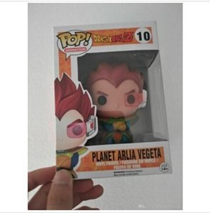 2020 Dragon Ball Funko Pop Dragonball Z #10 Planet Arlia Vegeta Goku Vinyl anime Figure Toy for kids party gift
