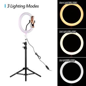 10inch لعكس الضوء LED سطح المكتب الدائري ضوء USB التوصيل مع حامل كاميرا الهاتف Ringlight على يوتيوب فيديو لايف صور استوديو التصوير
