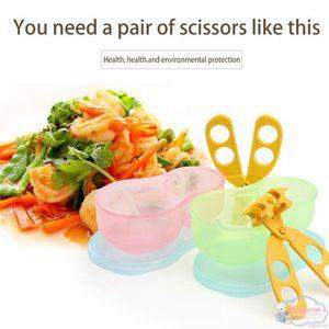 Kidlove Multi-Function portátil Pp Clipe Tesoura Baby Food Cut Suplemento Scissors Kidlove Multi-Function Data de lançamento LtKw barato bonito