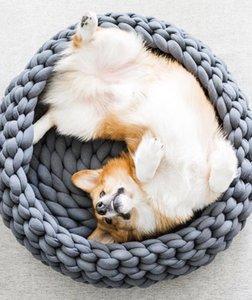 Letto per cani Brand New rotonda Crochet Knit lana gatto del cane Casa gabbia Pet Supply