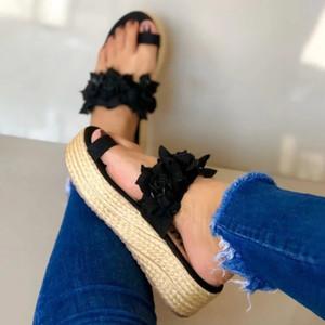 MoneRffi Woman Platform Slippers Flower Slippers Casual Beach Flip Flops Sandals Women Sandals Summer Sexy High Heel Slippers