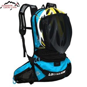 Impermeáveis Bolsas de bicicleta Ciclismo Backpack Ultraleve bicicleta Bolsas Lightweight Sports equitação da motocicleta + 1L Água Bag bexiga
