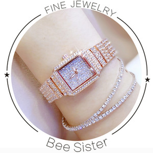 New hot-selling watch, high-end linked watch full of diamonds, fashionable and elegant wild trend watch