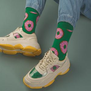 Creative Fashion Harajuku Women Socks Food Donuts French fries banana bee Popcorn Pizza Burgers Casual Funny Socks Meias