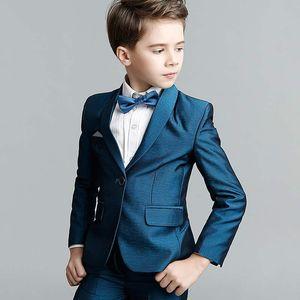 패션 아이 공식복 작은 소년 정장 아이들 옷 웨딩 블레어 보이 생일 파티 자켓 바지 정장 (자켓 + 바지 + 조끼)