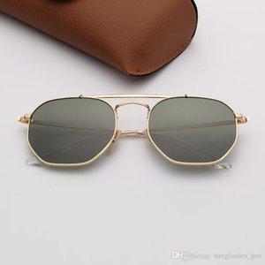Designer Mens Sunglasses Brand Sunglasses Fashion Woman Ray Sunglasses Gold Frame G15 Lenses Des Lunettes De Soleil with Leather Case
