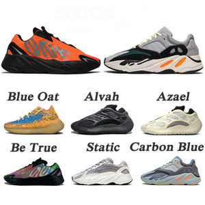 New Kanye West 700 Wave Runner Azael Alien Blue Oat Mist Vanta Running Sports Shoes Mens Womens Outdoors Sneakers Trainers Size EUR 46