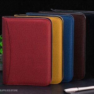 Journal Notebook voyageurs en cuir Mémos Cahiers Dossier énergie solaire Porte-cartes Calculatrice Bloc-notes A5 A6 Plan d'affaires B5