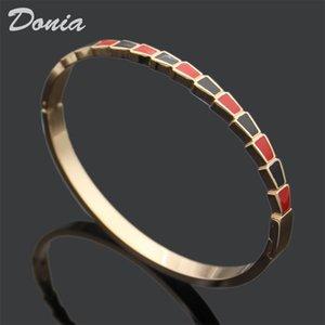 Donia Schmuck Liebe Hause zweifarbige Emaille Überzug übertrieben Titan Stahl, europäische und amerikanische populäre verstellbare Öffnung Armband ein