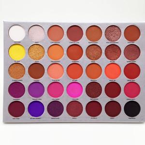 Nuevo 35 colores de sombra de ojos paleta de maquillaje sombra de ojos paleta de volumen del reflejo de la gama de colores mate de envío libre de DHL