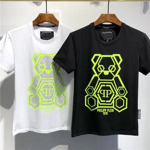Yeni Erkek Yaz moda Tişörtlü Erkek Gömlek T Shirt Erkekler ve Kadınlar Kısa Gömlek Harf Baskılı Mürettebat Boyun Tees
