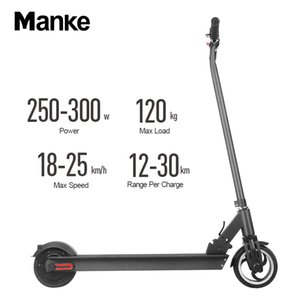 EU 7 Days Dispatch Aluminum Alloy Black Electric Folding Scooter Bicycle LED Display 6.5 Inch Wheel 300W Electric Bike Portable Free Tax