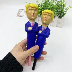 Donald Trump Squishy Pen lento ritorno di decompressione giocattolo simulato fumetto divertente Penne lento aumento Spremere Stress Relief della novità Giocattoli E11402