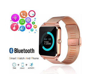 Bluetooth Smart Watch Phone Z60 Stainless Steel Support SIM TF Card Camera Fitness Tracker GT08 GT09 DZ09 V8 Smartwatch for IOS Android