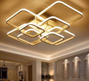 Quadrados circel Anéis luzes de teto para sala de estar quartos casa AC85-265V Modern Led lâmpada do teto Luminárias brilho plafonnier MYY