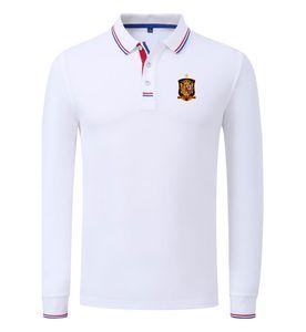 Luva respirável Longo Polo Espanha Equipe de futebol grosso Personalizar logotipo dos homens de futebol Sports Wear Golf Sportswear Casual