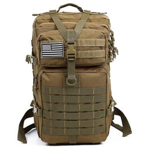34L Tactical Assault pacchetto zaino dell'esercito di Molle impermeabile Bug Out Bag Small Zaino per campeggio d'escursione esterno di caccia (cachi)