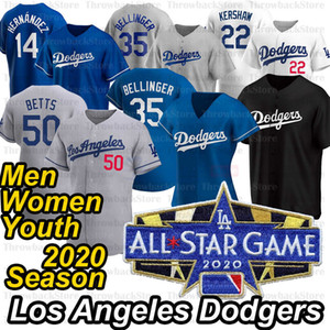 Los Angeles Mookie Betts 2020 Temporada Jersey Cody Bellinger 35 Clayton Kershaw 22 Corey Seager Justin Turner Julio Urias David Price Jersey