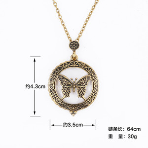 Collare d'arte Magnifying Glass Cabochon Collana Collane Necklace Locket Collier