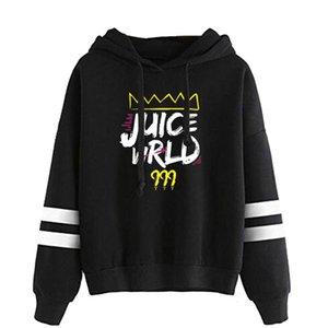 Новая печать Сок WRLD толстовки без сумки с длинным рукавом Hoodie мужчин, женщин фуфайки осени вскользь капюшоном девушки мальчика черные пуловеры