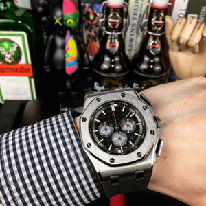 ROYAL 남성 시계 미요 타 석영 운동 45 * 14mm 남성 방수 손목 시계 고무 밴드 남성 손목 시계