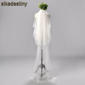 Modischer Brautschleier Zwei Schichten Tüll Mit Kamm 1,8 Meter Länge Zubehör Marke Neue Brautschleier Heißer Verkauf C19041101