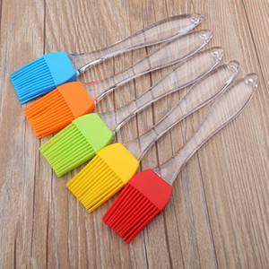 Silicone Barbecue Brosse Beurre Huile Cuire Pâtisserie Grill Alimentaire Pain À Badigeonner Bakeware Cuisine Diner Outil Transparent Poignée WX9-1109