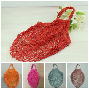 Fruit Vegetables Grocery Shopping Bag Fashion String Shopper Tote Mesh Net Cotton Shoulder Bag Woven Hand Totes Home Storage Bag DBC DH0635