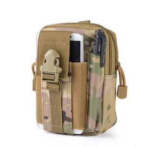 Erkekler Taktik Molle Kılıfı Kuşak Bel Paketi Çanta Küçük Pocket Askeri Bel Paketi Kese Seyahat Kamp Çantaları Yumuşak Koşucu