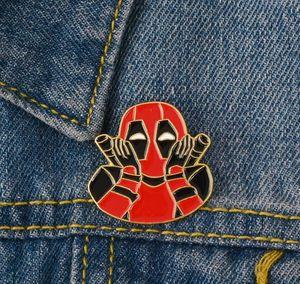 Deadpool Emaille-Abzeichen Rote und schwarze Superheld Villain Brosche Gerechtigkeit und Böse Revers Schmuck Eines der beliebtesten Charaktere zdl0927.