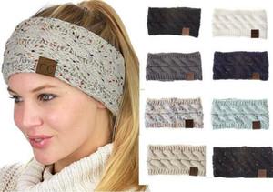 moda Hairbands CC croce maglieria signore accessori per capelli fibra di lana acrilica fascia intrecciata fascia testa calda copricapo
