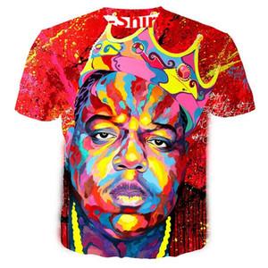 2019 Hot Sales Big Yards T-Shirt Women Men Biggie Smalls 3D Sublimation Print T-Shirt Summer Clothes T-Shirt DRW0114