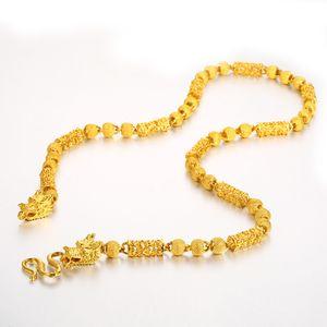 Vietnam Alluvial Goldmann Halskette Halt Farbe überzieht neuestes Gold Drache-Kopf-Halskette entwirft Schmuck