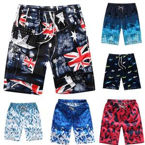 Marca Men Board Shorts verão Aptidão da praia Curto Trunks Impresso Boardshort solto cordão Casual Curto Homme Tendência M-4XL