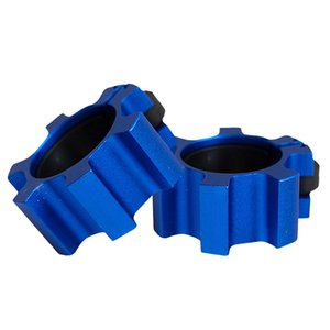 2Pcs Premium Solid 2'' Barbell Collars Spin Lock Weightlifting Clamps Clips Blue